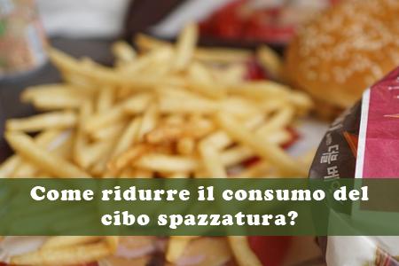 consumo del cibo spazzatura