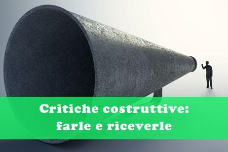 Critiche costruttive: farle e riceverle
